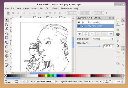 Line Art Using Gimp : Tutorial how to make colour vector illustrations from